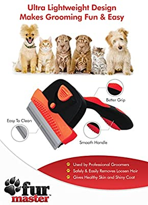 FurMaster Deshedding Tool 60% OFF For a Limited Time. For Small, Medium & Large Cats and Dogs With Short or Long Hair. Dramatically Reduces Shedding or We Guarantee a 100% Refund No Questions Asked! The Professional Pet Grooming Brush For Cats and Dogs.