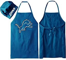 Detroit Lions Apron and Chef\'s Hat - Officially Licensed Product