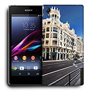 Snoogg Streets Printed Protective Phone Back Case Cover For Sony Xperia Z5