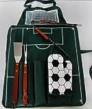 Grillschürze Grillbesteck Fußballfelddesign