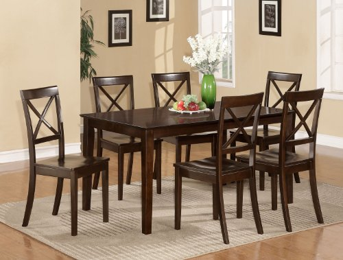 7pc Dining Dinette Kitchen Table 6 Chairs Wood Seat Anthony J Obrienet