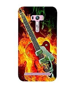 FIRE GUITAR Designer Back Case Cover for Asus Zenfone Selfie::Asus Zenfone Selfie ZD551KL