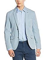 Trussardi Jeans Americana Hombre (Azul Celeste / Blanco)
