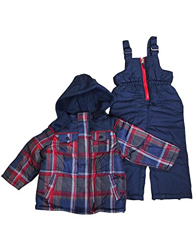 Ixtreme - Baby Boys 2 Piece Snowsuit, Navy, Red 34929-12Months front-703488