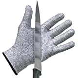 Cut Resistant Gloves by Stark SafeTM (X-Large) - Best Food Grade Kitchen Level 5 Cut Protection - Lightweight, Breathable, and Extra Comfortable - Available in Sizes Medium, Large, XXL - Protect Your Hands Today!