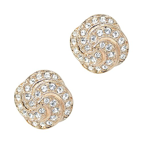 Hot Italian Style, finitura in oro rosa 18strass pave nobile di alta qualità orecchini a perno