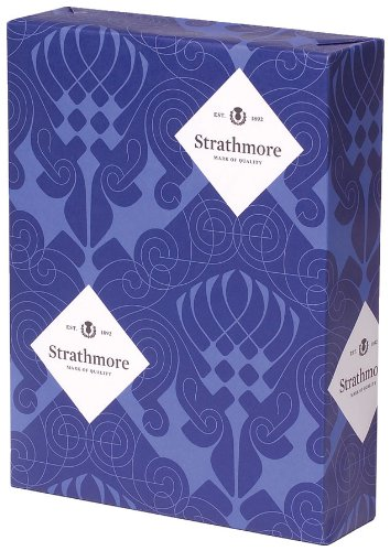 Strathmore Premium Smooth Stationery Paper, 97-bright, Smooth Finish, Watermarked, 24 lb, 8.5 x 11 Inch, 500 Sheets/Ream - Sold as 1 Ream,bright Ultimate White Shade (190611)