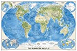 National Geographic Maps The Physical World, poster size, tubed Wall Maps World (National Geographic Reference Map)