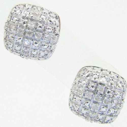 Mens 925 Sterling Silver earrings fancy stud hoops huggie ball fashion dangle white small pave earrings7