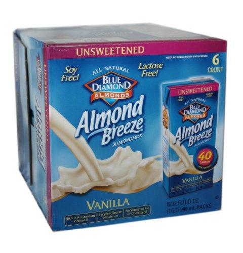 Blue Diamond Almond Breeze- Vanilla Flavored 6/320Z.