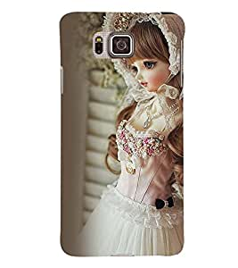 Printvisa Baby Doll Dressed Up In White Gown Back Case Cover for Samsung Galaxy Alpha G850