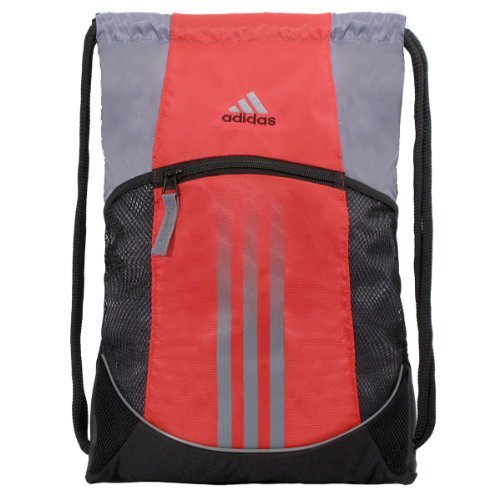 adidas Alliance Sport Sackpack, High Resolution Red/Tech Grey, 18 x 13 3/4-Inch image