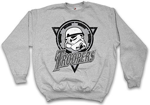 TROOPERS LOGO PULLOVER SWEATER SWEATSHIRT MAGLIONE - Dark Star Stormtrooper Imperial Logo Guard Wars Taglie S - 5XL