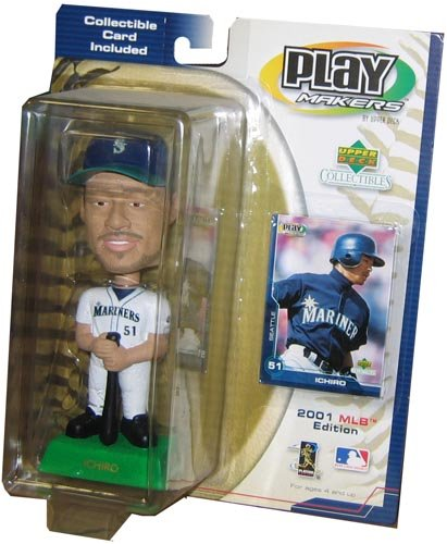 2001 MLB Playmakers Bobbing Head Doll - Ichiro Suzuki - Seattle Mariners