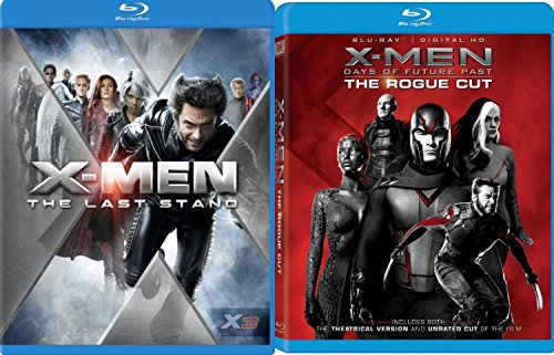 X-Men Days of Future Past & - X-Men The Last Stand Blu Ray 4 Disc Set Marvel Action