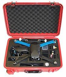 Microraptor Pro Case cusotmized to fit the 3D Robotics Iris+ and accessories (Orange Case, Black Foam)