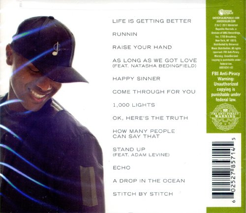 Javier Colon - Come Through For You LIMITED EDITION Includes 2 BONUS Tracks A Drop In The Ocean and Stitch by Stitch