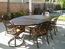 "Hot Sale Heritage Outdoor Living Nassau Cast Aluminum 52""x70"" Table - Antique Bronze"