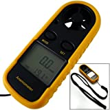 LCD Digital Handheld Wind Speed Gauge Meter Measure Anemometer Thermometer 65MPH
