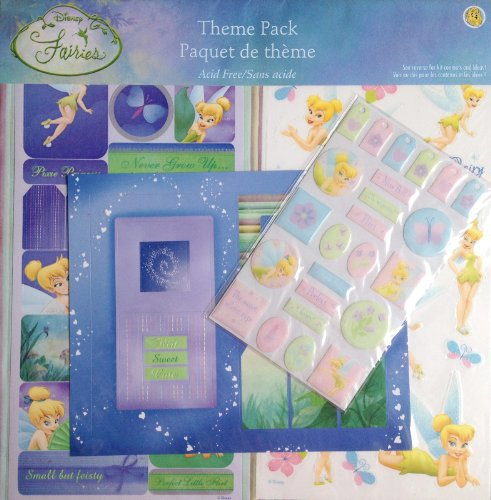 Tinker bell theme pack create scrapbook page 12 x 12 acid free