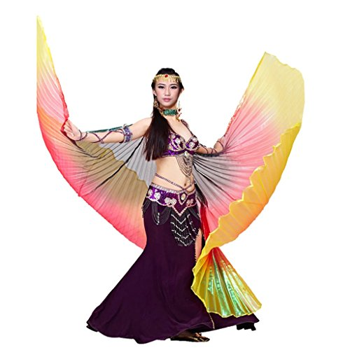 Pilot-trade Women's Egyptian Egypt Belly Dance Costume Colorful Isis Wings Navy