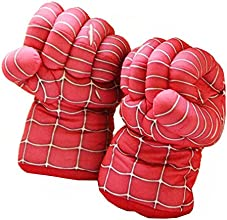 Super Spider Soft Plush Boxing Gloves Toys Costume Props for Kids Halloween Gifts