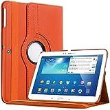 Bestwe 360° Ledertasche Flip Case Tasche Etui für Samsung Galaxy Tab 3 10.1 mit Ständerfunktion -Multi Color Options (Orange)