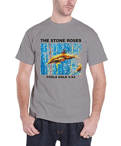 The Stone Roses T Shirt Mens Fools Gold Cover All For One Official Grey
