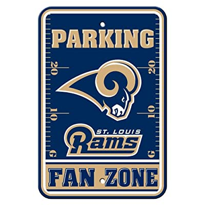 NFL Los Angeles Rams Plastic Parking Signs
