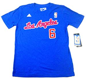 DeAndre Jordan Los Angeles Clippers Youth Net Number T-Shirt Blue by adidas