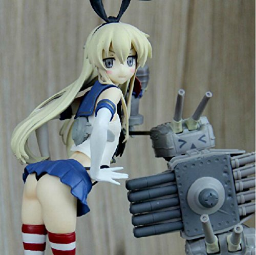 Rosy Women Game Kantai Collection Shimakaze Stand Battery Sexy Girl Pvc Action Figures Collection Model Toys Doll 25Cm