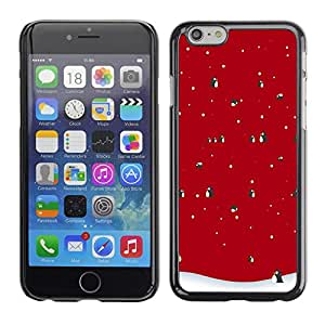 Omega Covers - Snap on Hard Back Case Cover Shell FOR Apple Iphone 6 Plus / 6S Plus ( 5.5 ) - Winter Christmas Penguin Snow