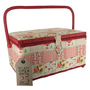 Large Patchwork Sewing Box- Sewing Basket (GW305 a ...