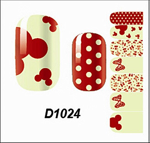 1 Pcs Eminent Water Transfer Foils Glitter 3D Decals Popular Nail Art Stickers Style Code D1024 (Tie Dye Nails compare prices)