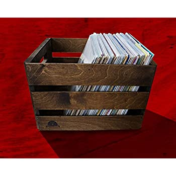 Stackable Vintage Record Crate - Holds 100LPs