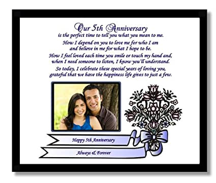5th Anniversary Gift For Husband 5th Wedding Anniversary Gift