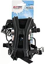 Flat Platform Bike Pedals 916quot With Med Toe Clips  Straps Black Alloy