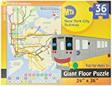 New York Kids Subway Floor Puzzle 36 Pieces by New York Puzzle Company