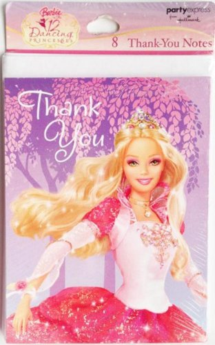 Barbie Dancing Princess Thank You Cards