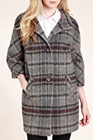 Autograph Checked Coat with Wool [T50-2070-S]