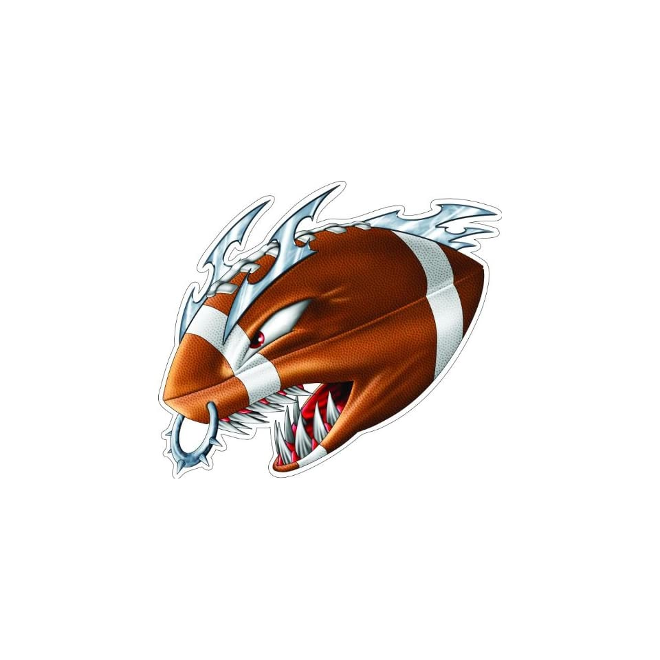 4 MONSTER FOOTBALL Printed vinyl decal sticker for any smooth surface such as windows bumpers laptops or any smooth surface.