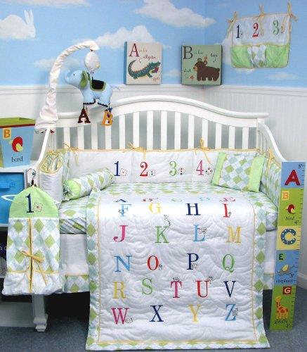 SoHo A to Z Alphabet Baby Infant Crib Nursery Bedding Set 10 Pieces
