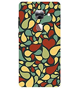 Chiraiyaa Designer Printed Premium Back Cover Case for LeEco Le 2 (heart pattern love) (Multicolor)