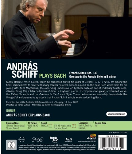 andras schiff plays bach french suites nos 1 6 film. Black Bedroom Furniture Sets. Home Design Ideas