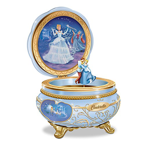 Disney Princess Cinderella Heirloom Porcelain Music Box with Dancing Characters by The Bradford Exchange