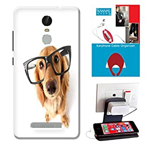 Xiaomi Redmi Note 3 Accessories Combo, Premium Quality Designer Printed 3D Lightweight Slim Matte Finish Hard Case Back Cover for Xiaomi Redmi Note 3 + Free Earphone Cable Organizer + Mobile Charging Holder/Stand