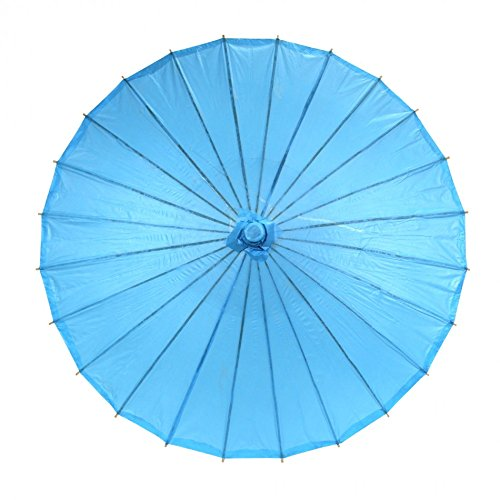Koyal Color Paper Parasol, 32-Inch, Turquoise front-996894