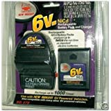 New Bright 6V, 6 Volt Nicd Rechargeable Battery Packa & Charger Recharge up to 1000 times! No. 670, Compatible with many other 6V powered Vehicles. Produces Twice the run time as standard alkaline batteries.