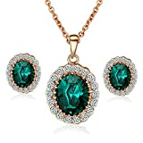 [Retro Series] Yoursfs Kate Middleton Diana Style Stud Earring and Pendant Necklace