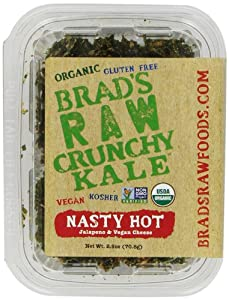 Brad's Raw Crunchy Kale, Nasty Hot, Jalapeno & Vegan Cheese, 2.5 Ounce